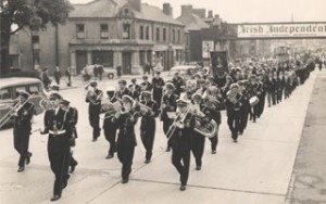 old photo marching
